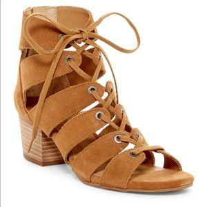 Lucky Genevie Cage Sandal Gladiator Heel 7.5